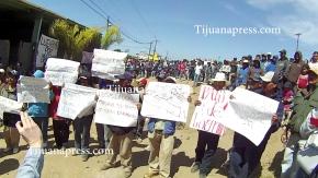 jornaleros de sanquintin en huelga