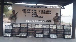 decomisa militares mas de 500 kilos de cocaina