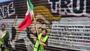 protestan por el mural de trump